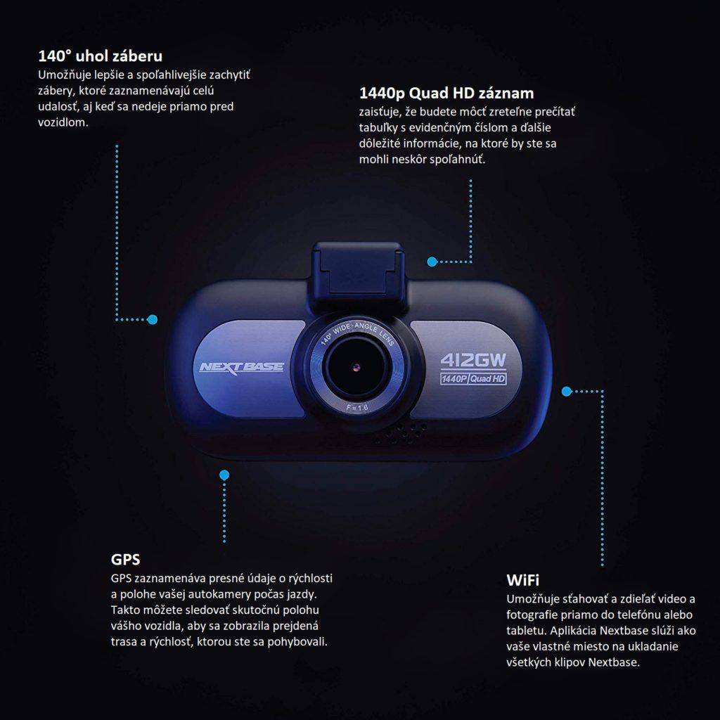 Vlastnosti autokamery Netbase
