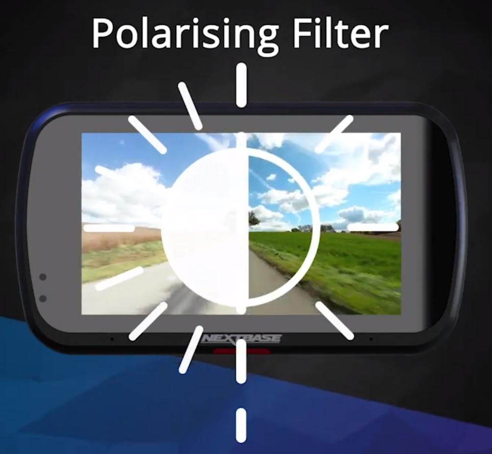 Polarižačný filter kamery do auta Nextbase 522GW